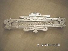 Briefkasteneinwurf Briefeinwurf Briefschlitz Metall silber Briefkastenbeschlag