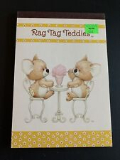 Vintage Rag Tag Teddies Sangamon Tablet sipping sodas Ruth Morehead LAST ONE