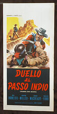 CINEMA-locandina DUELLO AL PASSO INDIO s. homeier, k. miller, JOE KANE