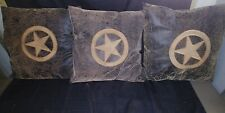 Three Ultra Suede Pillows W Lone Star Emblem