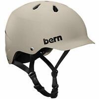 Bern Watts Bike Skate Snow Helmet Thin Shell L-XK 57-60 CM Tan Adult Men NEW