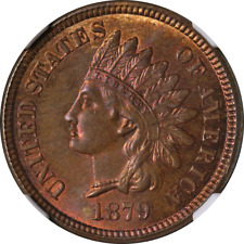 1879 Indian Cent NGC MS64BN Superb Eye Appeal Strong Strike