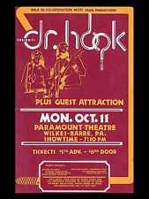 """Dr Hook Paramount 16"""" x 12"""" Photo Repro Concert Poster"""