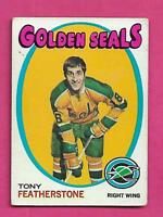 1971-72 TOPPS # 106 GOLDEN SEALS FATHERSTONE ROOKIE  CARD (INV# A8637)