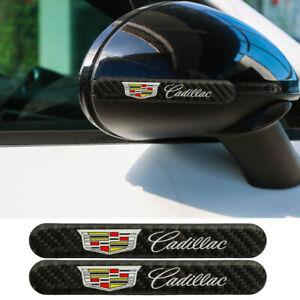 2PCS CADILLAC Carbon Fiber Car Side Door Edge Scratch Protector Guard Sticker