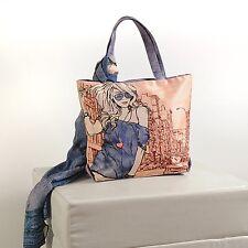 Handbag with scarf - Dupion/ Silk, Chiffon Scarf, Trendy, Stylish, Everyday bag