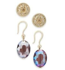 Stud & Bead Drop Earrings $29 Je06 Charter Club Nwt RoseGold-Tone 2-Pc. Set Coin