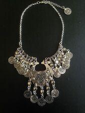 Vintage Necklace Moroccan Coin Silver Hippie Boho Tribal Bohemian N1040