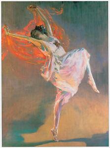 Anna Pavlova ballet dancer, John Lavery print in 11 x 14 inch mount for framing