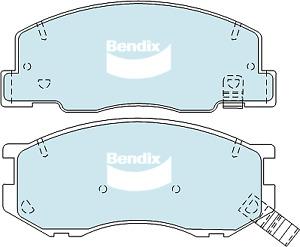 Brake Disc Pad Set Front Bendix DB1372 GCT For TOYOTA SPACIA TARAGO TOWN ACE