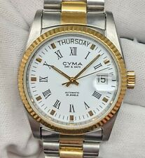 CYMA DayDate Two Tone Stainless Steel Automatic Men Watch (Cal 2834)