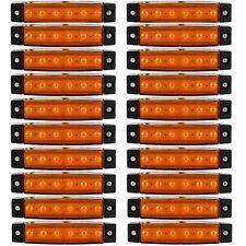 20x 6 LED Side Marker Indicators Lights Lamp 12V Lorries Truck Trailer Clearance