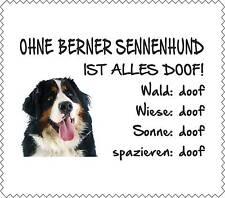 """Displayreinigungstuch Berner Sennenhund """"ALLES DOOF"""" Brillenputztuch GT0034"""