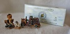 BOYD'S BEARS BEARLY BUILT VILLAGES FIREHOUSE ACCESSORY 3 PIECES - ORIG. BOX