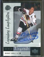 Bobby Hull Chicago Blackhawks Upper Deck NHL Legends Signed Card Autograph Auto