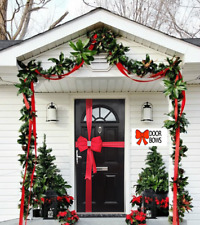 Luxury Christmas Padded Satin Door Bow Decoration with Diamante Centre