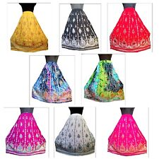 10 pc Bulk Lot Indian Belly Dance Rayon Skirt Gypsy Hippie Party Bohemian Dress
