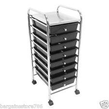 8 Drawers black beauty salon hairdressing kitchen bathroom storage trolley unit