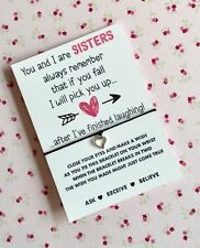 Sister Wish String! Sister Wish Bracelet! Sister Gift! BUY 5 GET 1 FREE!!! UK