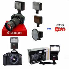 SPEEDLITE PRO FLASH +HD LED 51 LIGHT FOR CANON EOS REBEL T5 T5I T6 T7 T6I T3 SL2