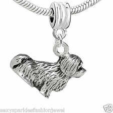 "Dangling ""Dog"" Charm Bead for European Snake Chain Charm Bracelet 3728"