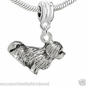 """Dangling """"Dog"""" Charm Bead for European Snake Chain Charm Bracelet 3728"""