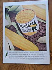 1940 Jolly Green Giant Ad Fresh Corn off Cob Good Rich Earth Backbone America