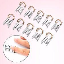 10 Sagome cartine riutilizzabili ricostruzione allungamento unghie gel nail art