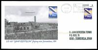 SPAIN CUSTOM STAMP ZEPPELIN 127 JERUSALEM - ONLY 1 COVER MADE!! cg20