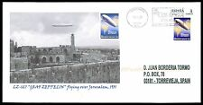 Spain privada-marca Zeppelin 127 jerusalén Custom Stamp only 1 cover Made!!! cg20