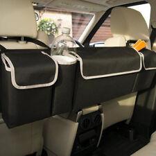 1x Black Oxford Car Seat Back Organizers Multi-use Top For Interior Accessories