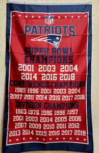 New England Patriots Champions Flag 3X5 FT NFL Banner Polyester FAST SHIPPING!!!