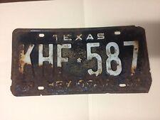 Vintage Texas Hemisfair 1968 license plate