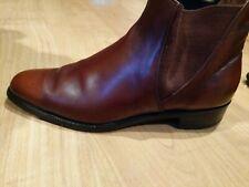 Crockett and Jones Men Shoes Chelsea 4 Brown Chestnut Ankle Boots, Sz 7, VGUC