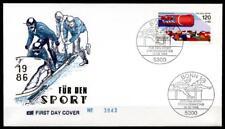 Bobsport. WM-1986. FDC. BRD 1986