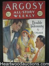 Argosy May 21, 1927 Double Indemnity