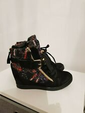 chained wedge ankle boots size 4 (37) worn once
