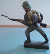 Soldat ancien LINEOL en composition Baïonnette  au canon  1940