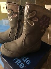NewToddler Girls Gray Surprize Stride Rite Delrae Fashion Boots Shoes Size8