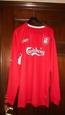 MENS FOOTBALL SHIRT - LIVERPOOL FC - M - OWEN 10 - LONG SLEEVES - HOME 2004/06