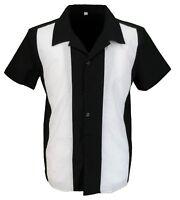 Retro Black/White Rockabilly Bowling Shirts