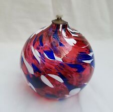 ❀ ڿڰ ❀ Studio Cranberry Glass Hand Blown amitié/Valentine Bougie Lampe À Huile ❀