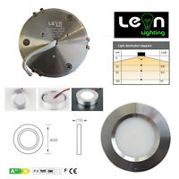 3w LED Kitchen Under Cabinet Puck Light 6000k Cool White 12v dc Recess - Surface
