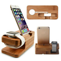 Charging Dock Stand Station Charger Holder for Apple Watch And iPhone New