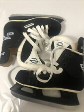 New ListingHockey Ice Skates Bauer Authentic And Proud 33 Impact Youth Size M5 Slightly Use