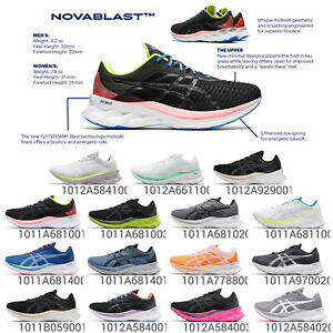 Asics Novablast Trampoline Mens Womens Road Running Cushion Shoe Sneakers Pick 1