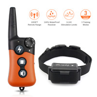 Ipets 1000ft Remote Dog Training Shock Collar Rechargeable Waterproof Dog Collar