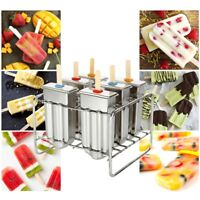 Stainless Steel Frozen Ice Cream Mold Juice Popsicle Maker Ice Lolly Pop Mould