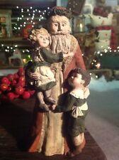 """Sarah's Attic Santa With Children Figure 9"""" #1423/4000"""