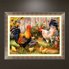 5D Diamond Embroidery Rooster Chick Painting Cross Stitch DIY Craft Home Decor